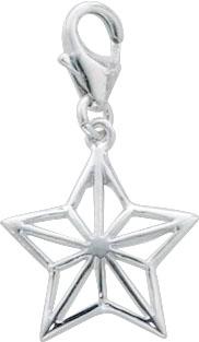 Charmanhänger Stern aus echtem Silber S...