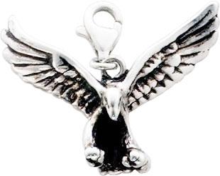 Charmanhänger Adler aus echtem Silber S...