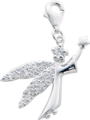 Charmanhänger Fee aus echtem Silber Ste...