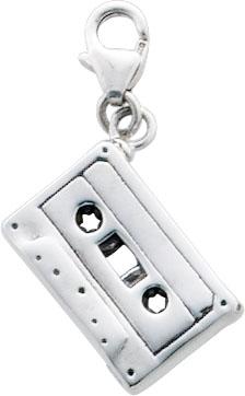 Charmanhänger Kassette aus echtem Silber Sterlingsilber 925/-, Länge 30mm, Breite 10mm. Dauerniedrigpreisgarantie von Abramowicz, der Juwelier Ihres Vertrauens aus Stuttgart seit 1949