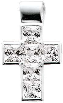 Silberanhänger. Anhänger Kreuz aus ech...