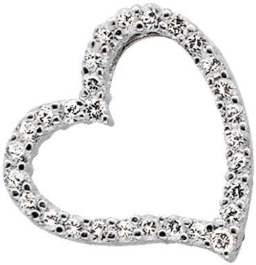Anhänger Herz mit 30 wie Diamanten funk...