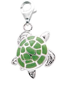 Charm-Anhänger Schildkröte aus echtem ...