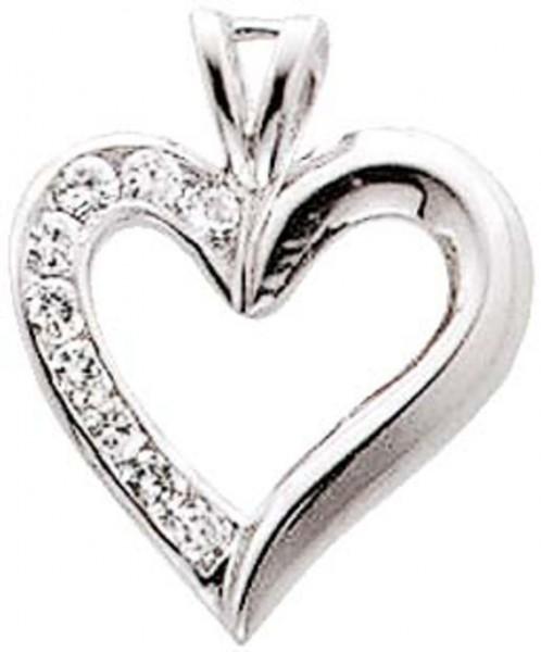 Silberanhänger. Anhänger Herz aus echt...