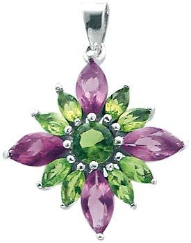 Traumhafter Blumenanhänger mit 13 grün...