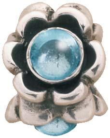 PANDORA Element in Silber Sterlingsilber 925/- mit Blautopas 79279BTP
