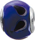 Glücks-Bead aus blauem und schwarzem  M...