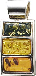 Stuttgart Hammerpreis. Anhänger mit echtem, wunderschönen 3- farbigen (Grün, Gelb und Orange)  Bernsteinen aus echtem 925/- Silber Sterlingsilber, Maße 21×9 mm, Dicke ca. 4,9 mm,  rhodiniert (Weißgold-Look) und hochglanzpoliert. Anhänger passend für alle