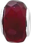 Anhänger, roter Glasstein Lg. 5 mm