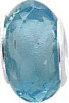 Anhänger, blauer Glasstein Lg. 5 mm