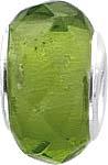 Anhänger, grüner Glasstein Lg. 5 mm