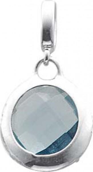 Anhänger blauer Zirkonia, Lg. 3 mm