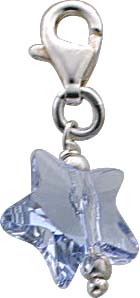 Charmanhänger Stern aus Kristallglas au...